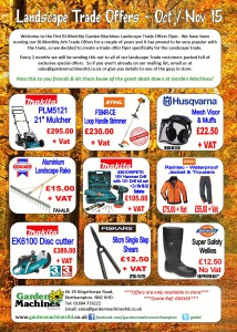 Oct - Nov 15 Landscape Trade Flyer