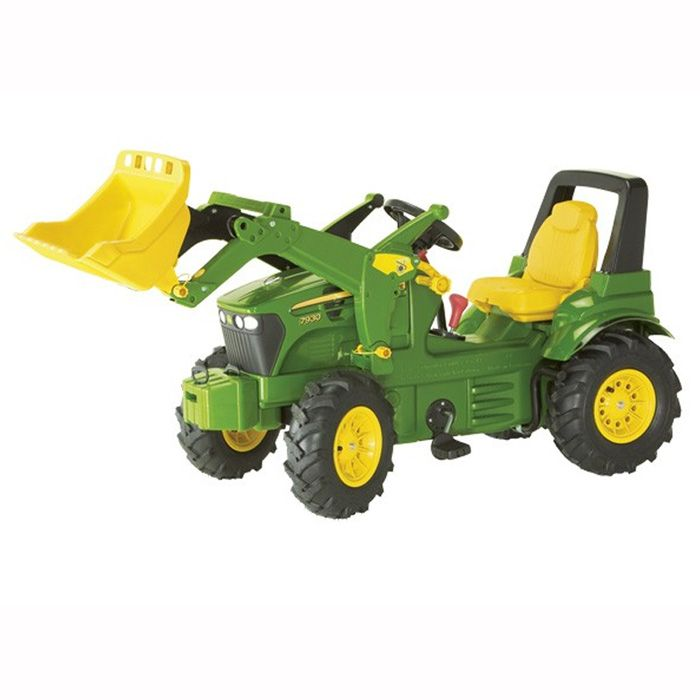 Metal Pedal Tractor Loader : John deere kids toy pedal tractor with tipper
