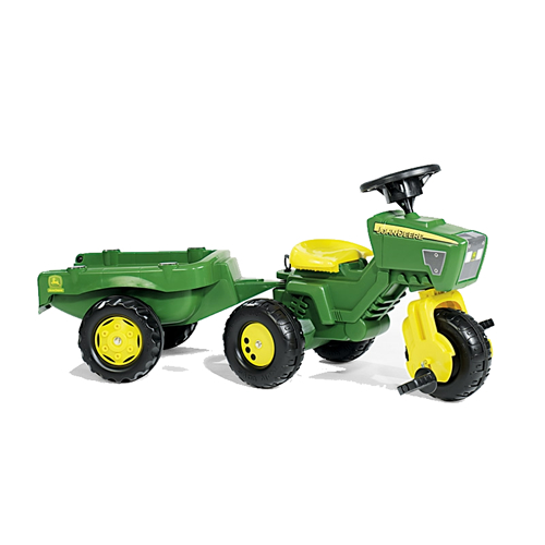 John Deere Trio Trac Pedal Tractor With Electronic